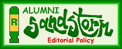 Alumni Sandstorm Editorial Policy